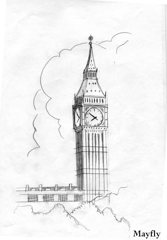 Картинки биг бена в лондоне карандашом, днем защиты природы